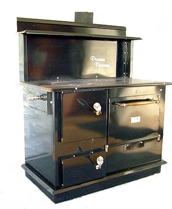 Pioneer Princess cook stove, Pioneer Princess cookstove, Front Load door, Front Ash Door