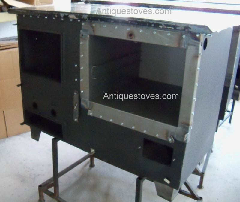 Ashland Deluxe wood cook stove, body being built - Ashland New Decade