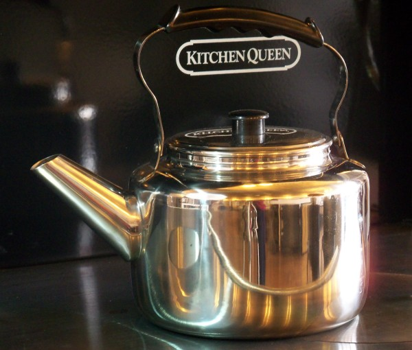 5 Qt stainless tea kettle - Linde, wood stove tea kettle