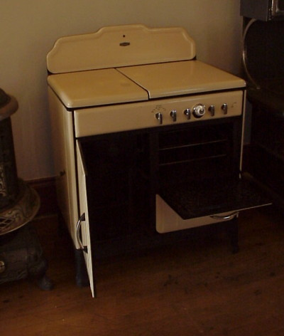 Antique Stoves, Wood and Gas Combination Stoves